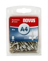 Novus 045-0032 Popnagel type A4 - Aluminium - 5,0-6,5 x 10 mm (70st)