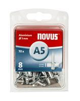 novus Popnagels A5 X 8 mm Alu SB - 70 Stuks
