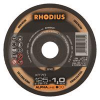 Rhodius Alphaline I XT70 Doorslijpschijf - Extra dun - 125 x 22,23 x 1mm - RVS/Staal (100st)