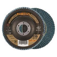 Rhodius LSZF3 ALPHALINE Lamellenschijf 115x22.23mm Korrel 40 10Stuks