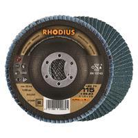 Rhodius LSZF3 ALPHALINE Lamellenschijf 115x22.23mm Korrel 60 10Stuks