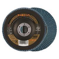 Rhodius LSZF3 ALPHALINE Lamellenschijf 125x22.23mm Korrel 60 10Stuks