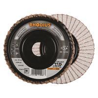 Rhodius TOPline lll LGA ALU Lamellenslijpschijf - K40 - 115 x 22,23mm - Ferro (10st)