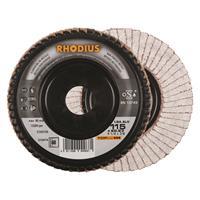 Rhodius TOPline lll LGA ALU Lamellenslijpschijf - K60 - 115 x 22,23mm - Ferro (10st)