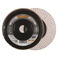 Rhodius TOPline lll LGA ALU Lamellenslijpschijf - K60 - 125 x 22,23mm - Ferro (10st)