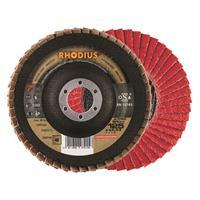 Rhodius Ceramicon Jumbo Speed Lamellenslijpschijf - K40 - 125 x 22,23mm - RVS/Staal (10st)