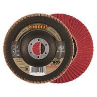 Rhodius Ceramicon Jumbo Speed Lamellenslijpschijf - K80 - 125 x 22,23mm - RVS/Staal (10st)