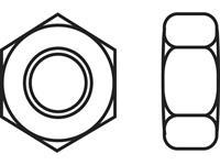Zeskantmoeren M6 DIN 934 RVS A2 10 stuks TOOLCRAFT 888121