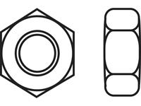 Zeskantmoeren M3 DIN 934 RVS A2 10 stuks TOOLCRAFT 888118