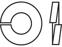 TOOLCRAFT B4 D127-A2 194681 Veerringen Binnendiameter: 4.1 mm M4 DIN 127 RVS A2 100 stuks