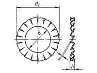 Lamellenschijven Binnendiameter: 5.3 mm M5 DIN 6798 Verenstaal 100 stuks TOOLCRAFT A5,1 D6798 194755