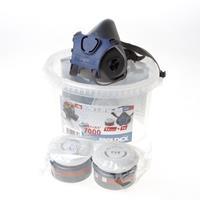 Halfmasker 7232 inlcusief 2x filter A2/P3 en box