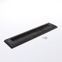 Gezu Brievenbusborstel 340x80 zwart