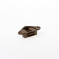 Ziehl Schuifdeur bovengeleider, bruin en opschroevend 1454