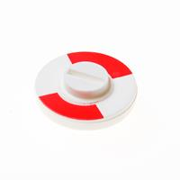 Hoppe rood/wit plaatje 5 mm