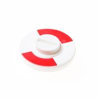Hoppe rood/wit plaatje 8 mm