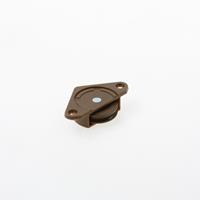 Ziehl Schuifdeurrol, gelagerd wiel 30mm, bruin, draagvermogen 25kg 1450