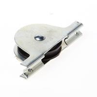 Jansen Rolslot met plaatijzeren kast polyamide wiel gelagerd 50mm met groef draagvermogen 12.5 kg 50jw/12.5kg/548