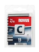 novus Nieten Smalrug C 4/15 mm - 1100 Stuks