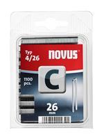 novus Tacker nietjes smalrug Type4/C 26 mm 1100 stuks