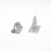 Kws Deurvastzetter staal gelakt zilver opschroevend verend 1068-02