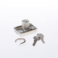 Junie © Meubelslot opleg met cilinder 2828, gelijksluitend, nikkel
