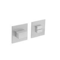 Magneet rozet vierkant met toilet-/badkamersluiting RVS geborsteld