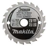 Makita 85x15x1,0mm 20T 10g Hout Zaagblad - B-16885