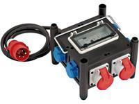 Brennenstuhl Compacte rubberen stroomverdeler BSV 3 FI/16 2 IP4