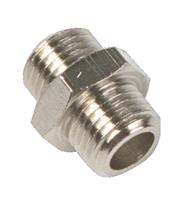 """Airpress 37510 Dubbele nippel - Messing - 1/8"""""""