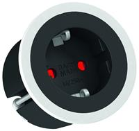 bachmann Pix inbouw stopcontact - Belgische aarding - wit/zwart/RVS look