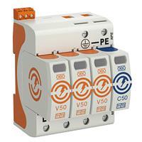 Obo gecombineerde afleider energietech., netvorm TN-C-S, netvorm TN-S, netvorm
