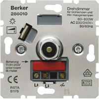 Berker K5 dimmer met draaiknop voor gloeilampen (60-600w) edelstaal
