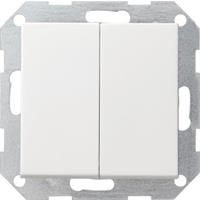 Gira 012527 - Series switch flush mounted white 012527