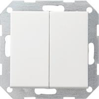 Gira 012503 - Series switch flush mounted white 012503