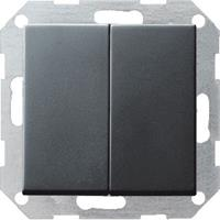 Gira 012528 - Series switch flush mounted anthracite 012528