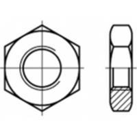 Zeskantmoeren M8 ISO 8675 Staal Galvanisch verzinkt 100 stuks TOOLCRAFT TO-5435682