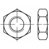 Zeskantmoeren M6 ISO 4035 Staal Galvanisch verzinkt 100 stuks TOOLCRAFT TO-5417118
