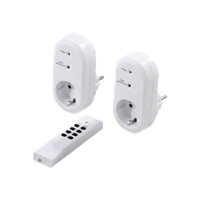 Radio-Controlled Power Outlet Set with Remote Control -