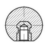 TOOLCRAFT TO-5447571 DIN 319 kunststof vorm C zwart kogelknoppen, C (zonder businzetstuk) met binnenschroefdraad afmetingen: 50 M 12 N/A 10 stuks