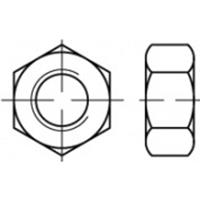 Zeskantmoeren 25 mm 83934 Staal Galvanisch verzinkt 100 stuks TOOLCRAFT TO-5443947