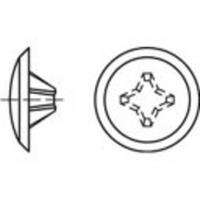 TOOLCRAFT TO-5454954 Artikel 8800 4kunststof KS-H donkerbruin sierdopjes afmeting: 2 x 12 / 3,5-5 N/A 1000 stuks