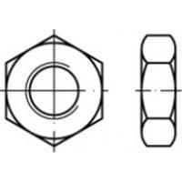 Zeskantmoeren 38 mm 83936 50 stuks TOOLCRAFT TO-5443998