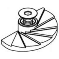 820199400100000 Artikel 82019 A 4 (1.4408) FF LINDAPTER-FLOOR-FAST-FF voor bodemplaten bevestigingsstukken ISK-bouten met verzonken kop afmeting: FF 10 (1