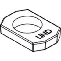 820410200240000 Artikel 82041 nodulair gietijzer AF-W thermisch verzinkt LINDAPTER-Rezessfullplatten AF-W voor het verkrijgen van gladde oplagen afmeting: AFW