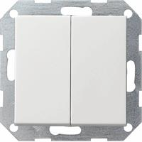 Gira 286027 - Series switch flush mounted white 286027