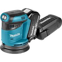 Makita DBO180RTJ 18V Excenter schuurmachine 125mm met 2 accu's in Mbox