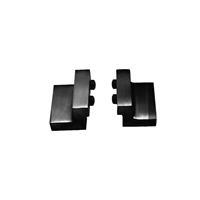 intersteel Set van 2 stoppers tbv schuifdeursysteem mat zwart