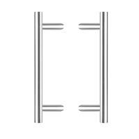 intersteel Deurgrepen T-schuin 700x85x25 h.o.h. 500 roestvaststaal