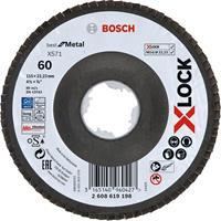 Bosch 2608619198 X-Lock Lamellenschijf Best for Metal - Schuin - Glasvezel - K60 - X571 - 115mm